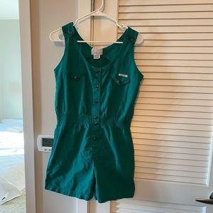 Vintage Green 80's Romper